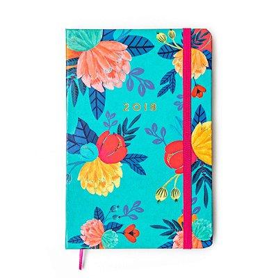 Agenda 2018 Floral Azul