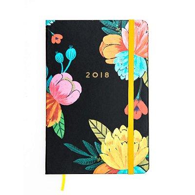 Agenda 2018 Floral Preta