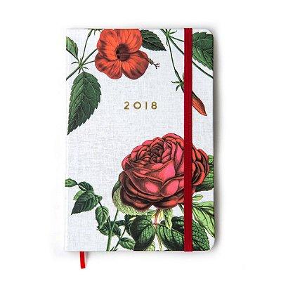 Agenda 2018 Floral Vermelha