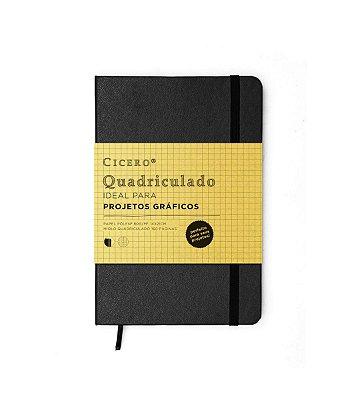 Caderneta Quadriculada Preta