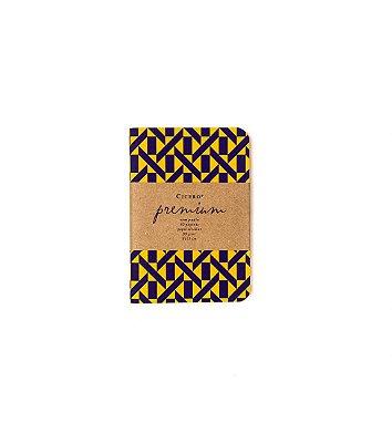 Caderneta Premium Laranja 9x13