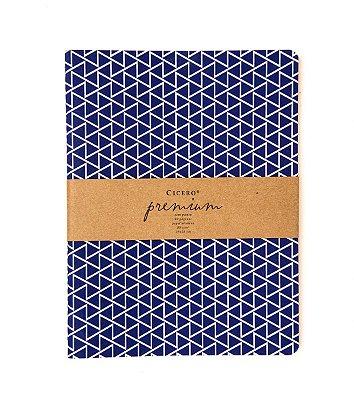 Caderneta Premium Azul 19x25cm