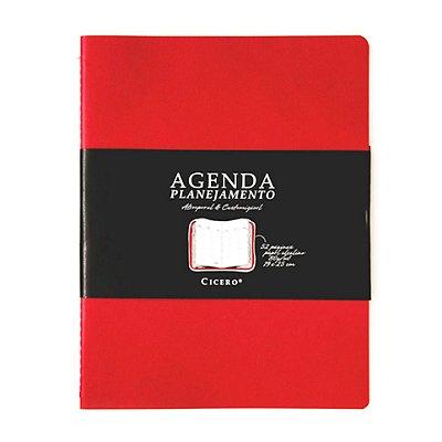 Agenda Planejamento Vermelha