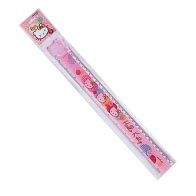 Régua 30cm Hello Kitty Rosa Claro