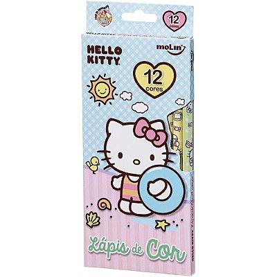 Lápis de Cor 12 Cores Hello Kitty Azul