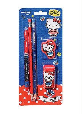 Kit Escolar 5 Peças Hello Kitty