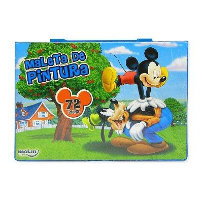 Maleta Artística 72 Peças Mickey Mouse e Pateta