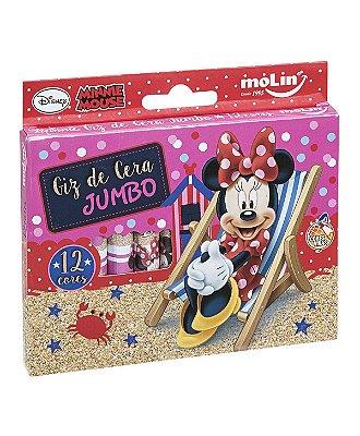 Giz de Cera Jumbo 12 Cores Minnie Mouse Praia