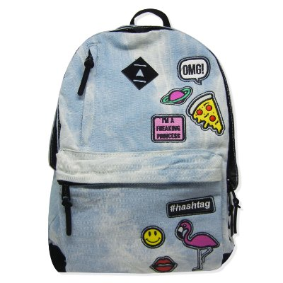 Mochila Jeans Patches