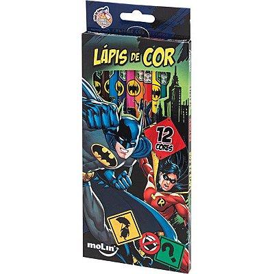 Lápis de Cor 12 Cores Batman e Robin