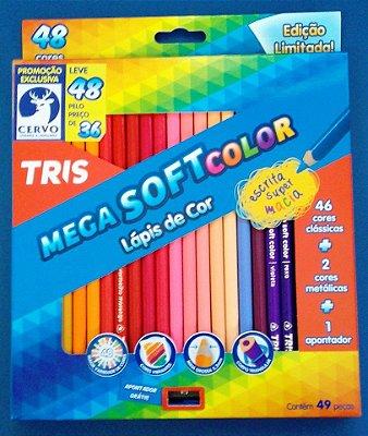 Lápis de cor 48 Cores com Apontador