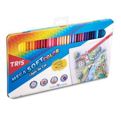 Lápis de Cor Lata Mega Soft 72 Cores