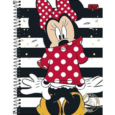 Caderno Minnie Listras 96 Folhas
