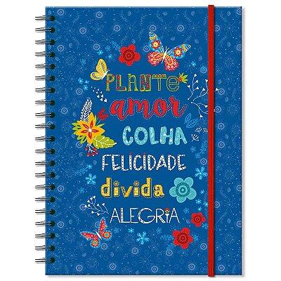 Caderno Estampado Plante Amor 100 folhas