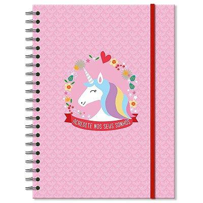 Caderno Estampado Unicórnio 100 folhas