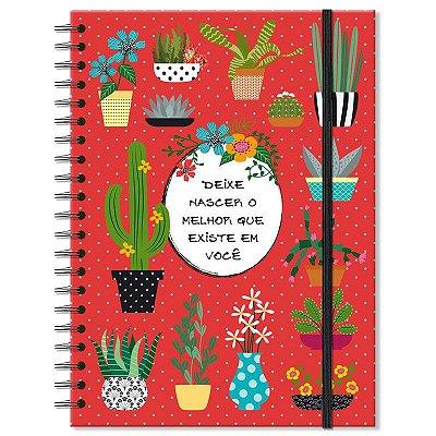 Caderno Estampado Cactos 200 folhas