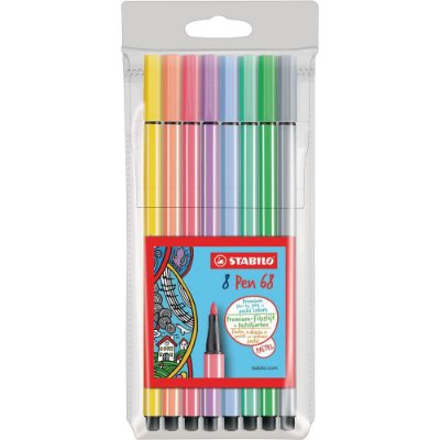 Kit 8 Cores Stabilo Point 68 Pastel