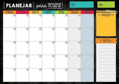 Planner Mensal em Bloco Básico