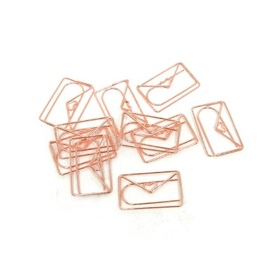 Pacote Clips 10 Unid Carta Amor