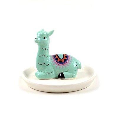 Mini Prato de Cerâmica Lhama