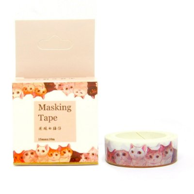 Fita Adesiva Washi Tape Gatos