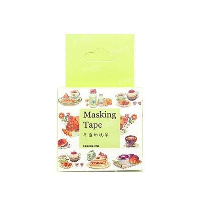 Fita Adesiva Washi Tape Café da Manhã