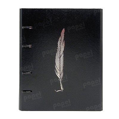Caderno Fichário Pena Bronze