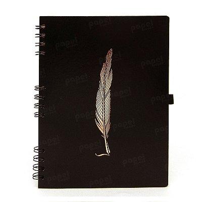 Caderno Espiral Pena Bronze
