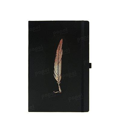 Caderno Papertalk  Pena Bronze Pontilhado