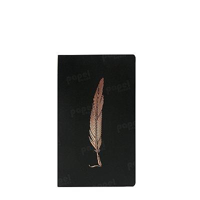 Caderneta Pena  Bronze Pontilhada Slim