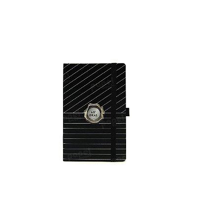 Caderninho Papertalk Black Risca de Giz Pontilhado