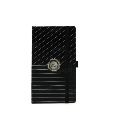 Caderno Slim Black Risca de Giz Pontilhado