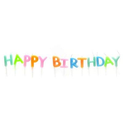 Vela Happy Birthday Colorida