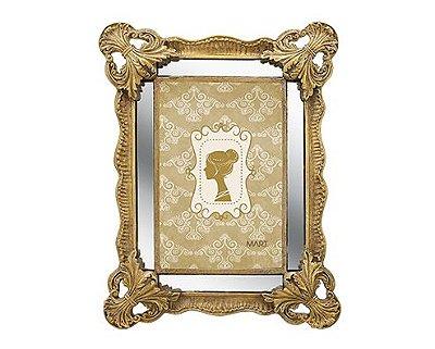 Porta Retrato Dourado com Espelho