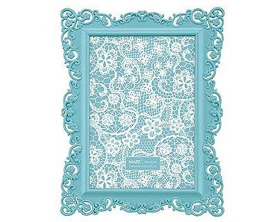Porta Retrato Azul Borda Flor 13x18cm