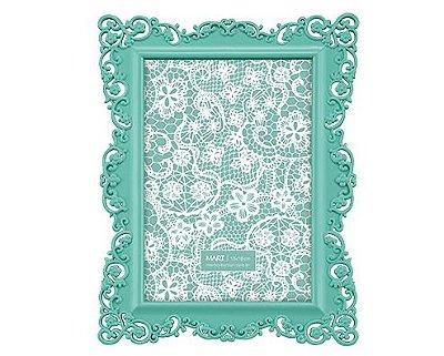 Porta Retrato Verde Borda Flor 13x18cm