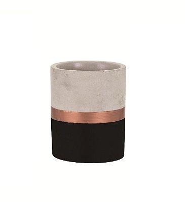 Porta Treco de Cimento Preto e Cobre