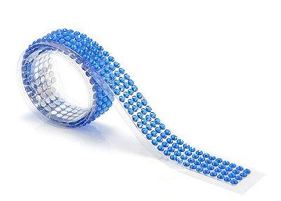 Fita Adesiva Washi Tape Strass Azul