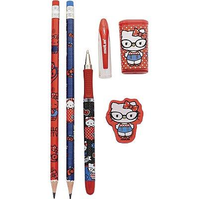 Kit Escolar Hello Kitty 5 Peças