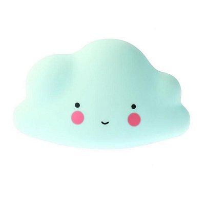 Mini Luminária Nuvem Feliz Verde
