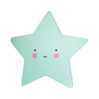 Mini Luminária Estrela Feliz Verde