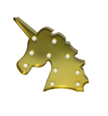 Luminária de Unicórnio Dourada