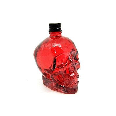 Mini Garrafa de Caveira Vermelha