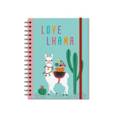 Caderno Lhama Médio 200 folhas