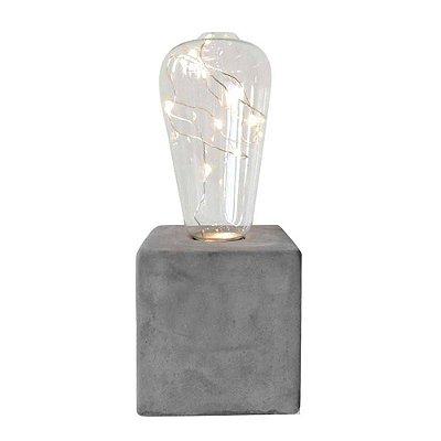 Luminária Decorativa com Base de Cimento