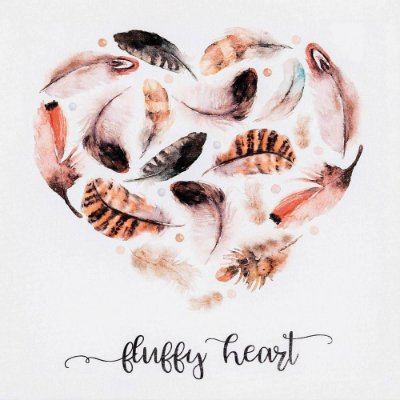 Quadro Decorativo Fluffy Heart