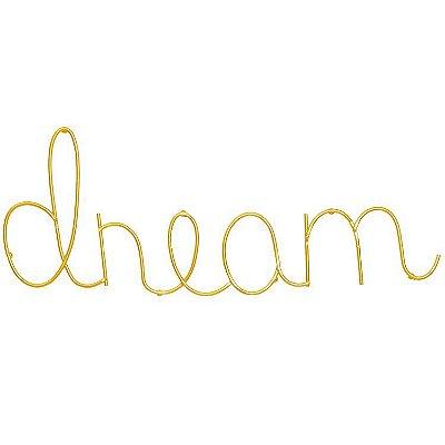 Letreiro Dream Dourado