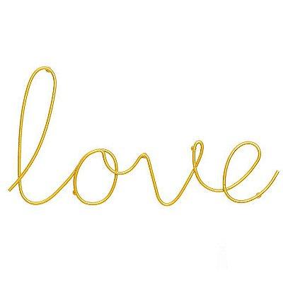 Letreiro Love Dourado