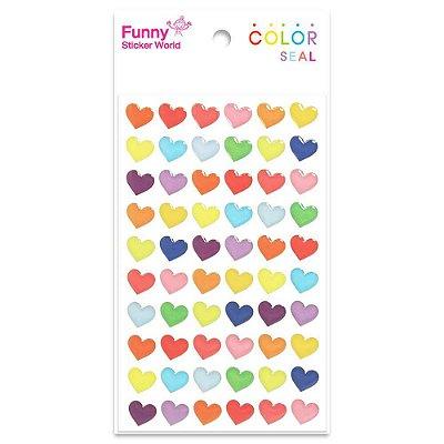Adesivo Corações Coloridos