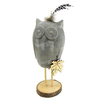 Coruja Decorativa de Cimento
